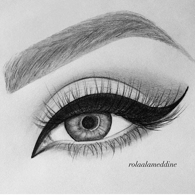 Beautiful drawing of my eye by @rolaalameddine 😍😍😍 I love it! Thank you!! #pinkperception