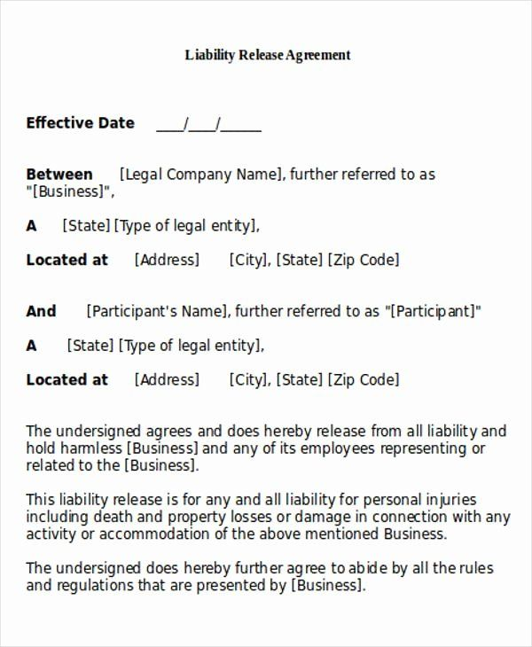Personal Injury Waiver Form Inspirational General Release Of Liability Form Sample 7 Examples In Job Application Template Liability Smart Goals Examples
