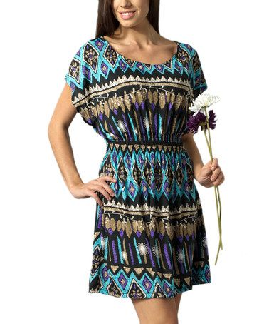 Take a look at this Purple Tribal Dress by Bacci on #zulily today!