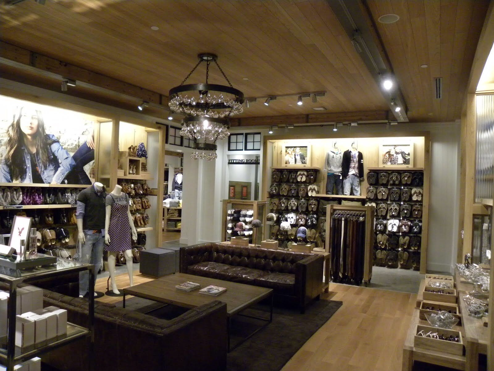 2a5454bc976 Another interior shot of a fifth generation American Eagle Outfitters store  design (2013)
