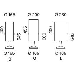 Serien Lighting Tischleuchte Club Table schwarz, Schirm creme, Medium Club 1x 77 Watt + 2x 30 Watt, #vitamins
