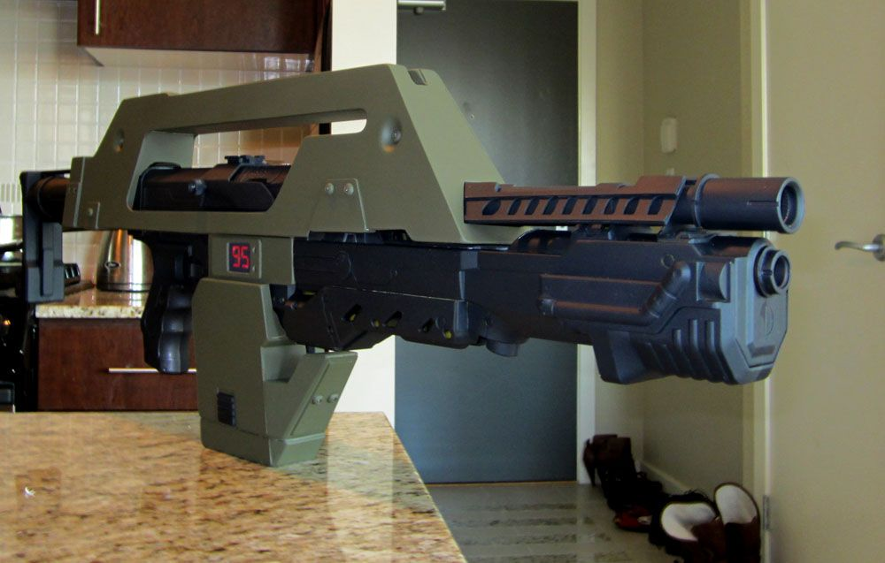 M 41 Pulse Rifle From Aliens From Nerf Guns Geeky Art