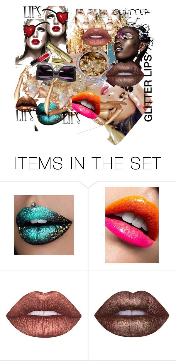 """""""MADNESS: GLITTER LIPS"""" by m-kints on Polyvore featuring картины"""