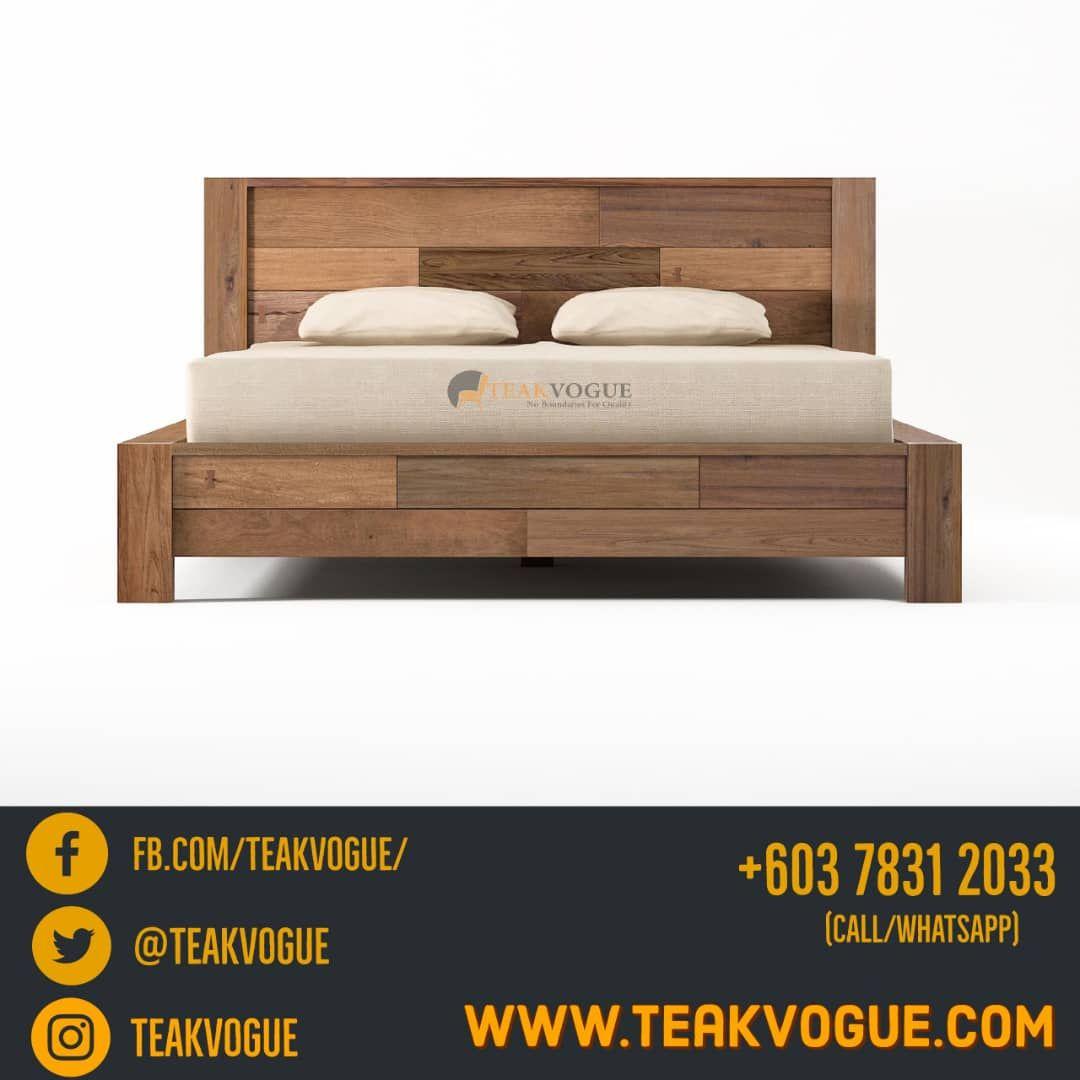 Teak Wood Single Bed Design