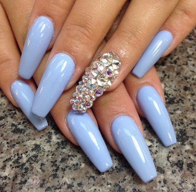 Fab Nails Designs Blue Acrylic Nails Light Blue Nails Pretty Nails