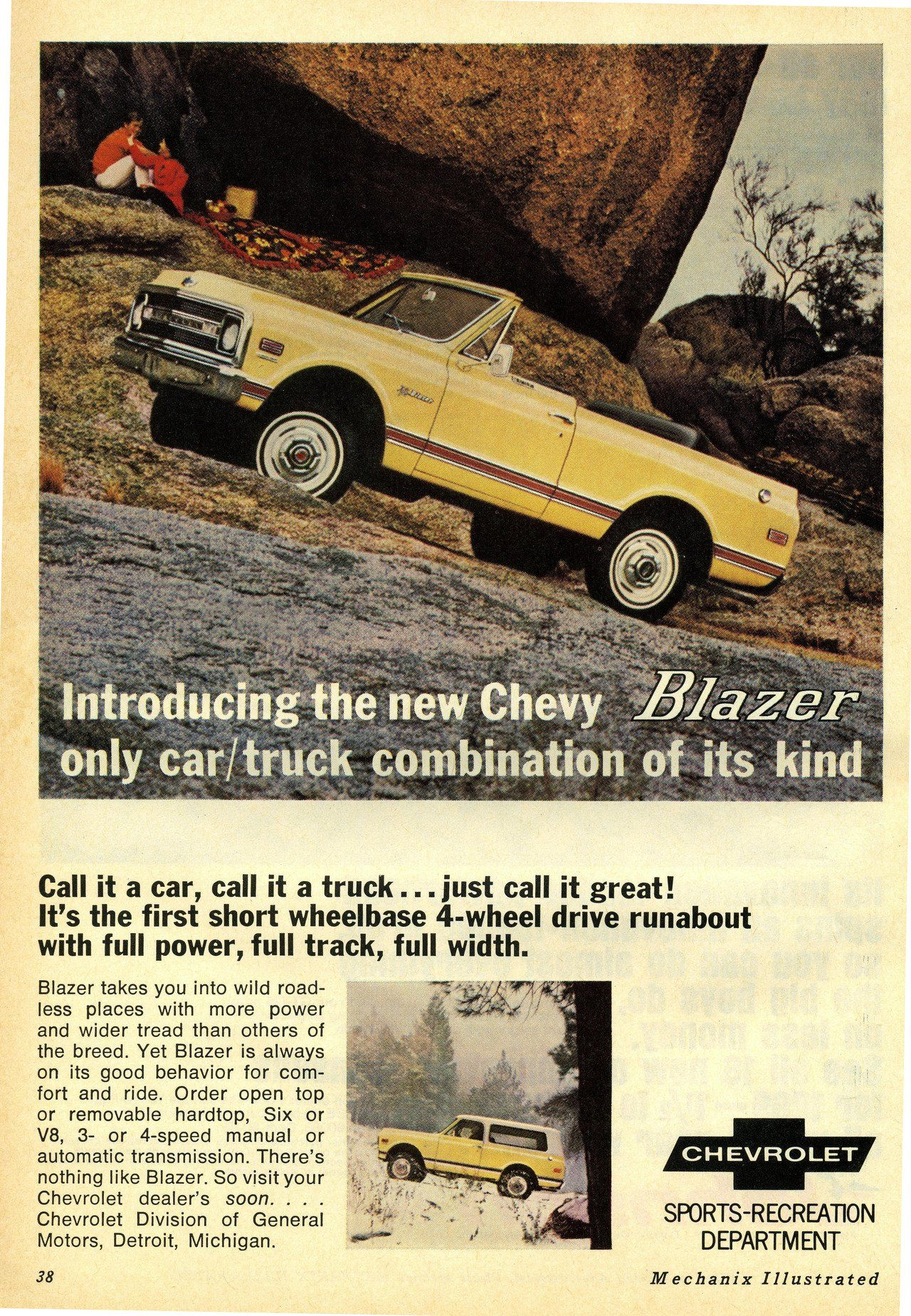 1969 Chevrolet Blazer Ad Gm Trucks Chevy Trucks Classic Trucks