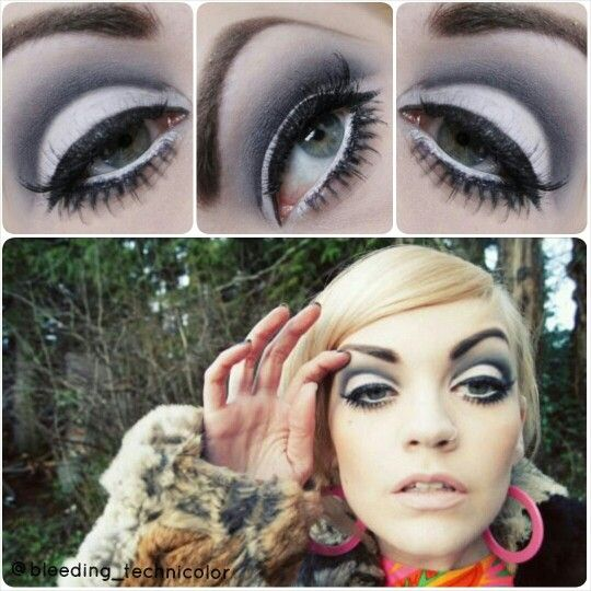 04d5cf1bc4c 60's inspired cutcrease by tuesday wise / 60s makeup, eyeshadow, black Cut  Crease, bottom lashes, 60s beauty, retro fashion, retro makeup