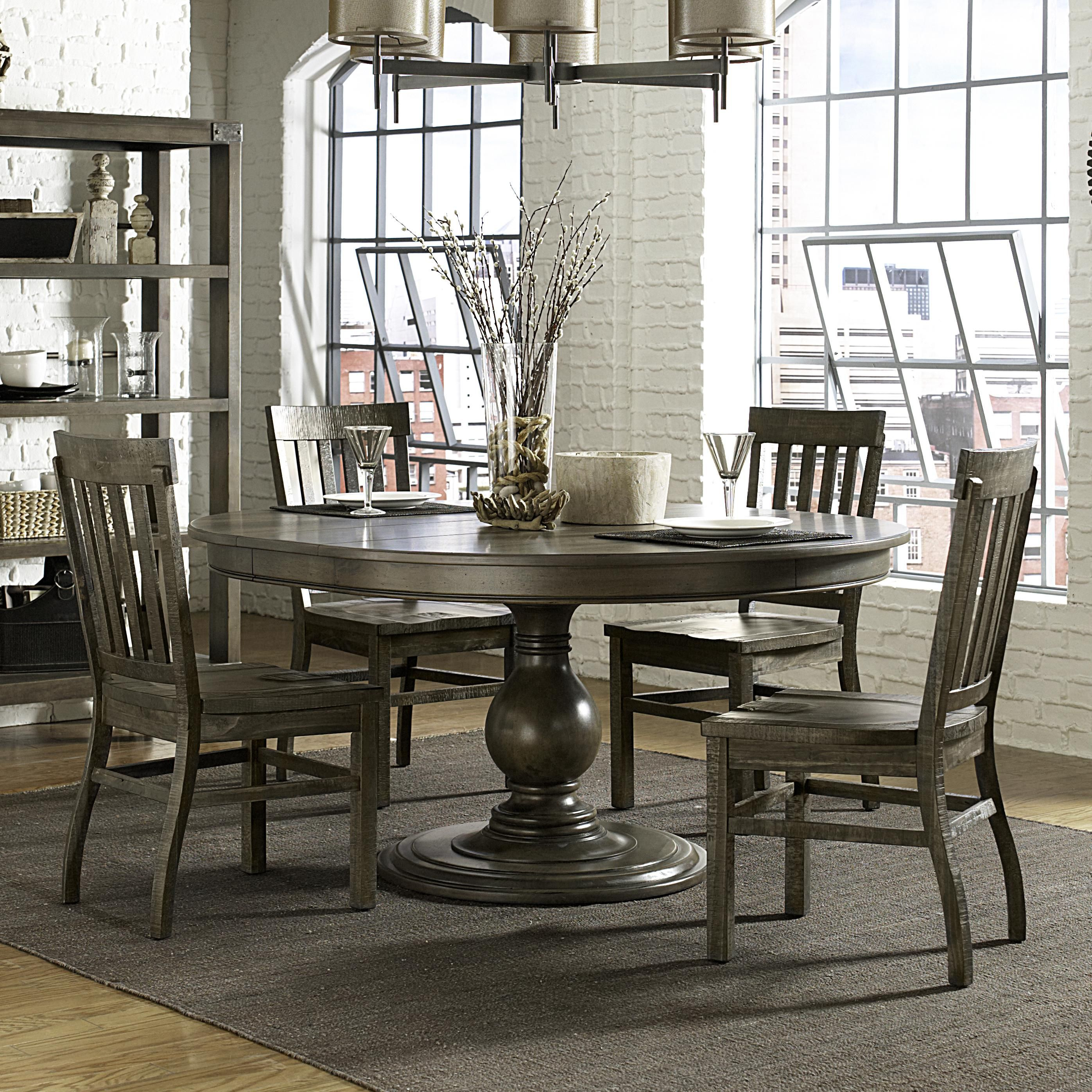 Karlin 5 Piece Table And Chair Set By Magnussen Home Round Wood
