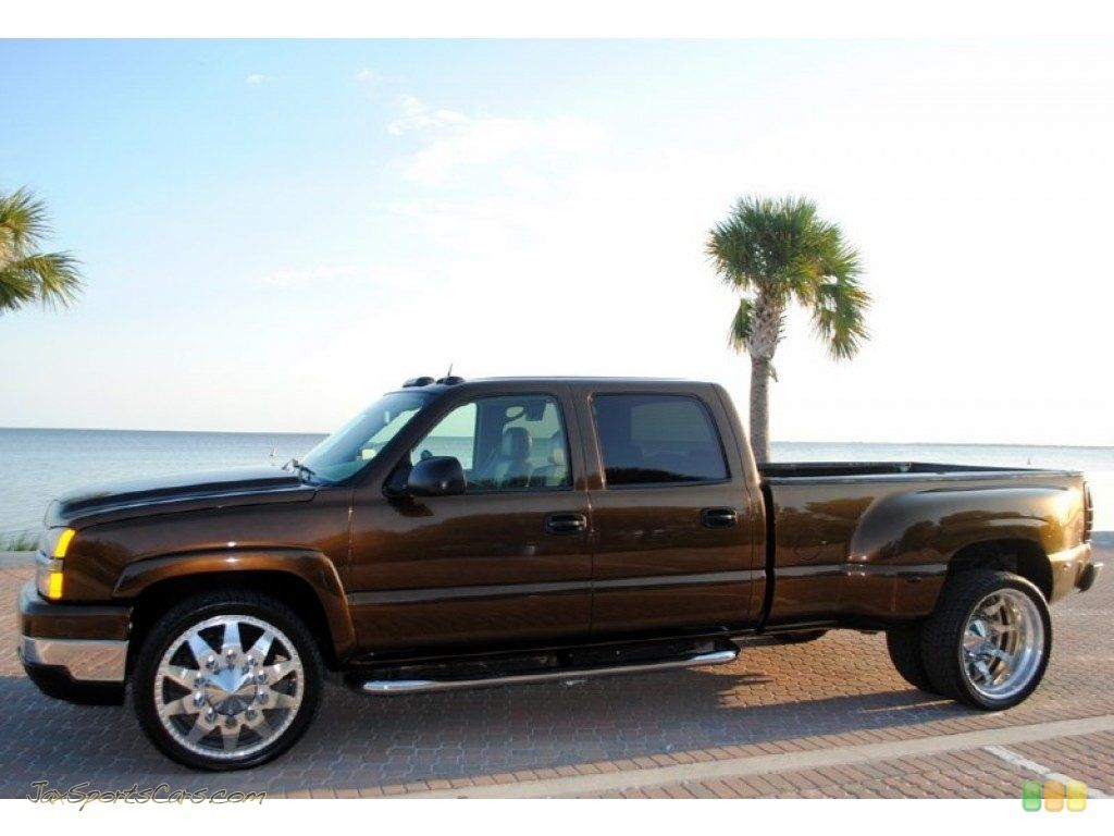 2005 Chevy Crew Cab Dually In Custom Bronze Dropped Trucks Chevrolet Trucks Diesel Trucks