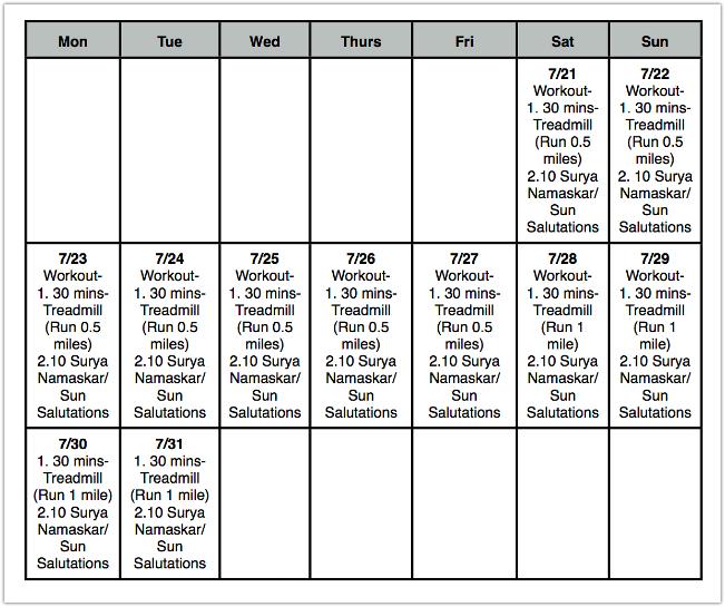 Printable Workout Routines | Printable workout routine