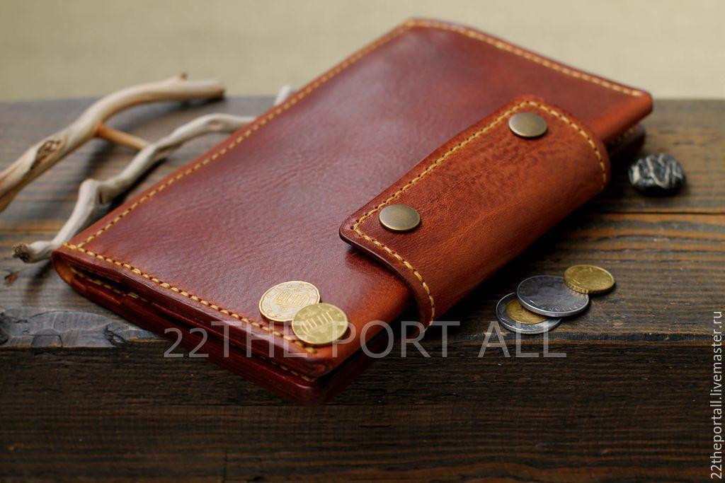 7d8e31c6b545 Купить Тревел из кожи, кошелек мужской, портмоне кожаное мужское в интернет  магазине на Ярмарке