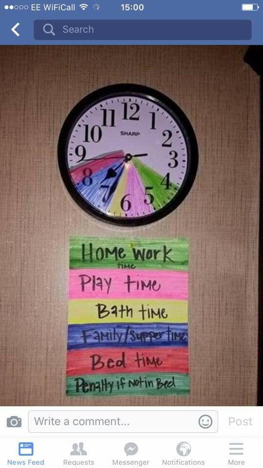 Visual clock | autism | Pinterest | Autism and Clocks