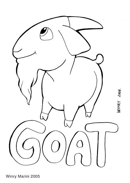 Art And Lore Goat Coloring Page