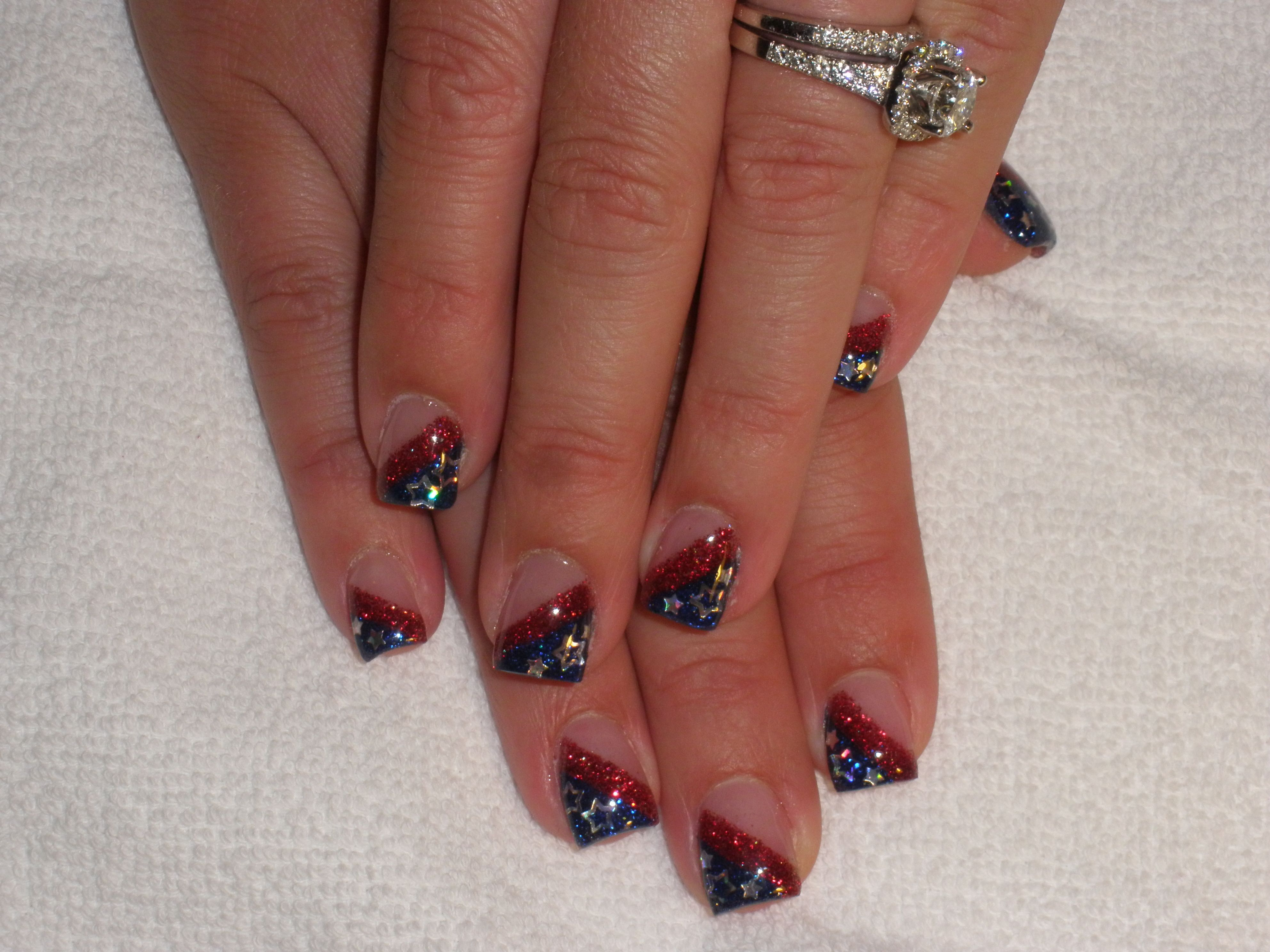 Red White Blue 4th Of July Nail Art Nails Blue