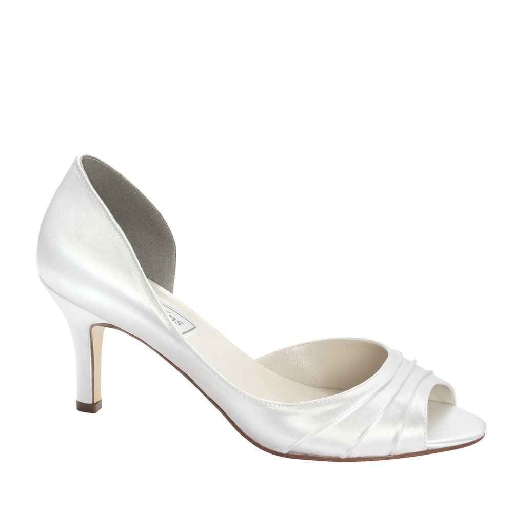 Nadia White Dress Low Heel Bridal Shoes Bridal Shoes Low Heel Discount Wedding Shoes Dyeable Wedding Shoes