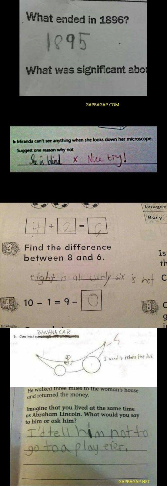 New Funny Test Answers  Top 10 Funniest Test Answers From Smartass Kids funny kids doing stupid things 6