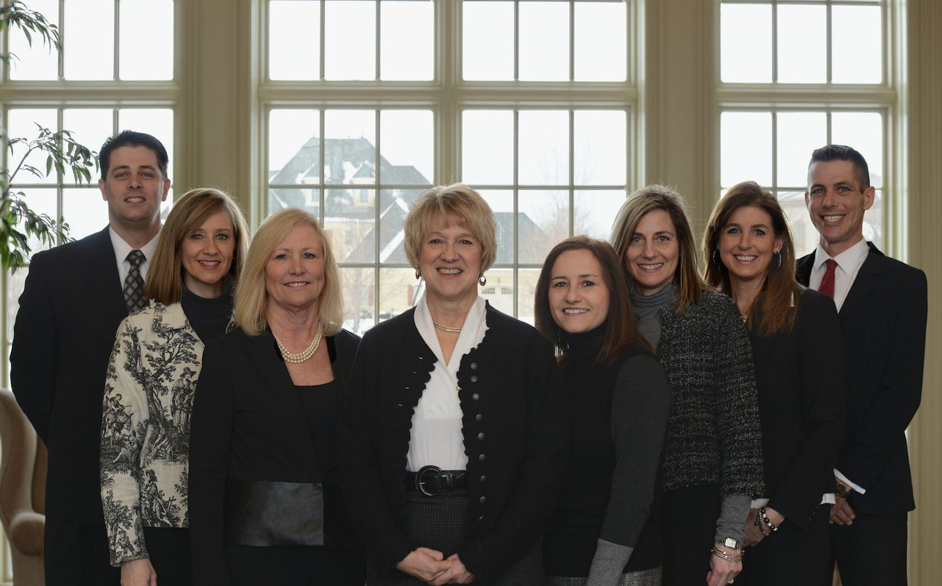 From left: Ben Bond, Michelle Grace, Micki David, Edie Waters, Claudia Miller, Christine McCarthy, Stephanie Snowden, Marcus McIntire