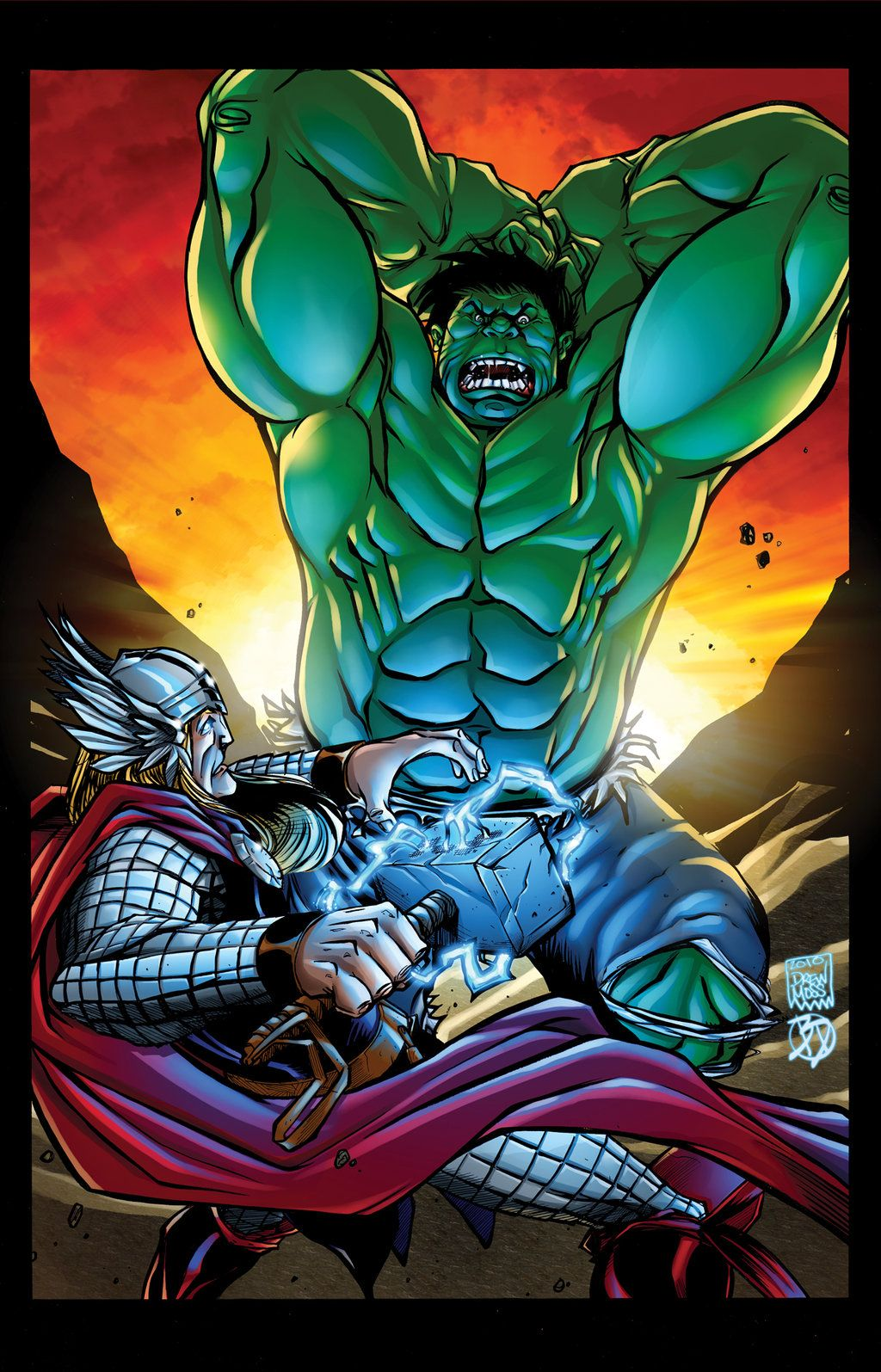 #Hulk #Fan #Art. (Hulk vs Thor) By: BDStevens. (THE * 5 * STÅR * ÅWARD * OF: * AW YEAH, IT'S MAJOR ÅWESOMENESS!!!™)[THANK Ü 4 PINNING!!!<·><]<©>ÅÅÅ+(OB4E)