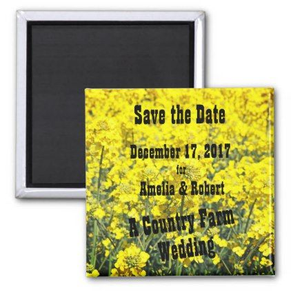 save the date country farm wedding reminder magnet