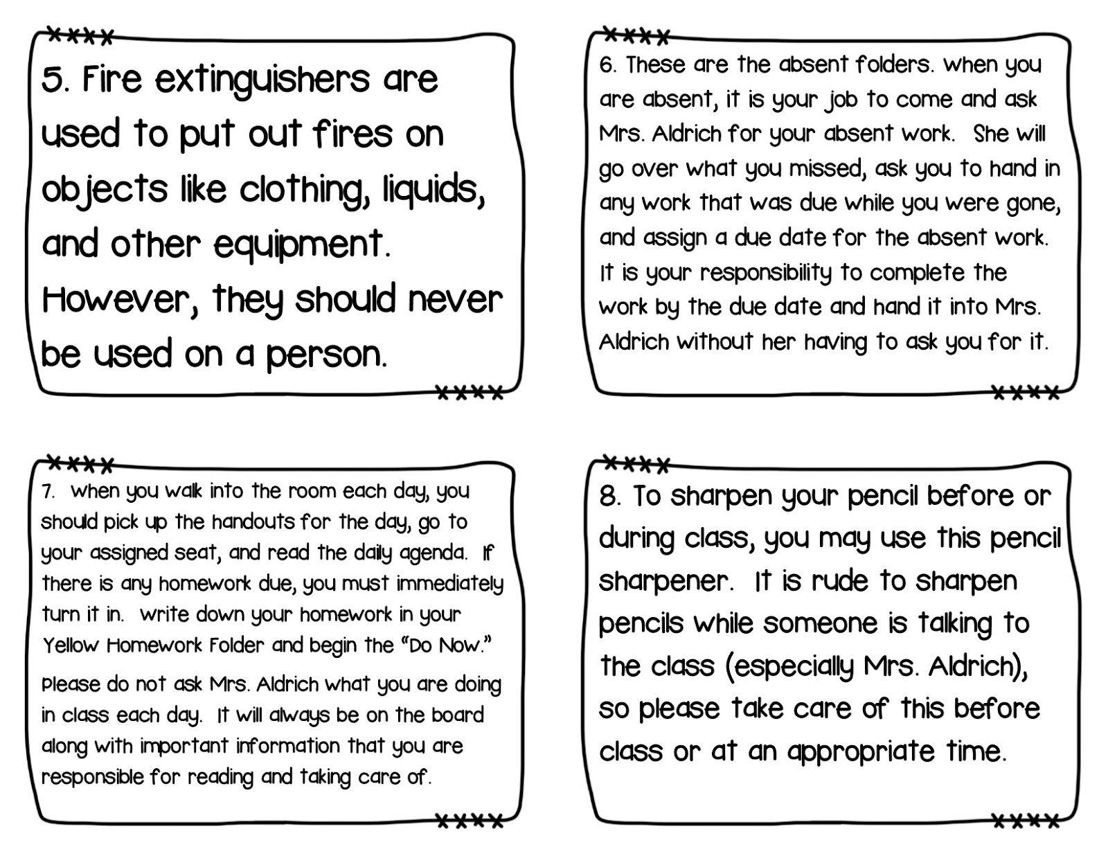 Classroom Scavenger Hunt To Teach Procedures Interesting