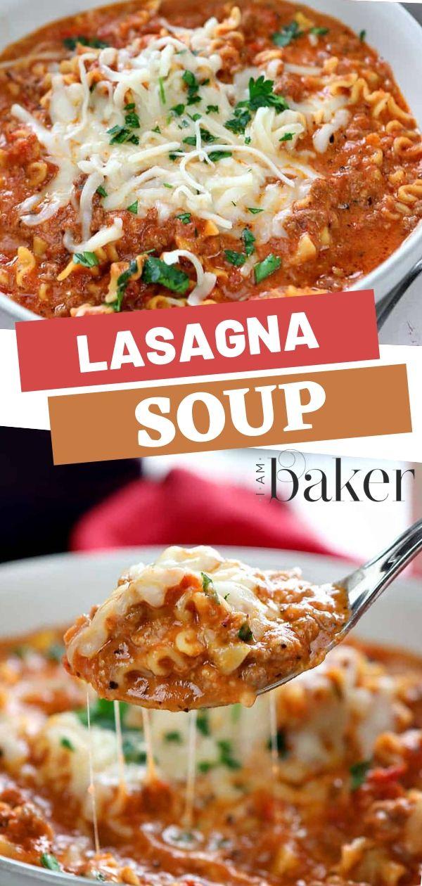 Lasagna Soup #comfortfoods