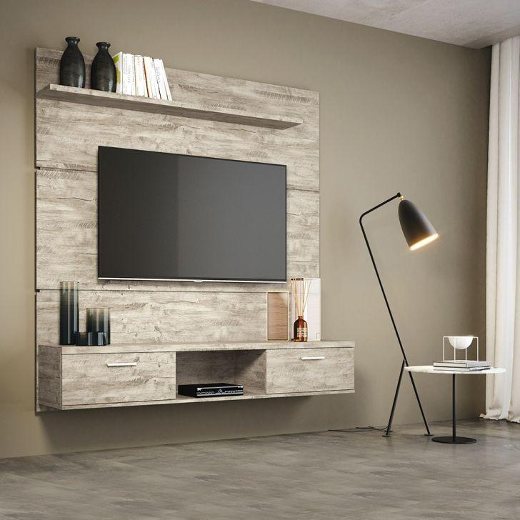 Painel Para Tv 55 Polegadas Flat Aspen 160 Cm Tv Stand Wood Tv
