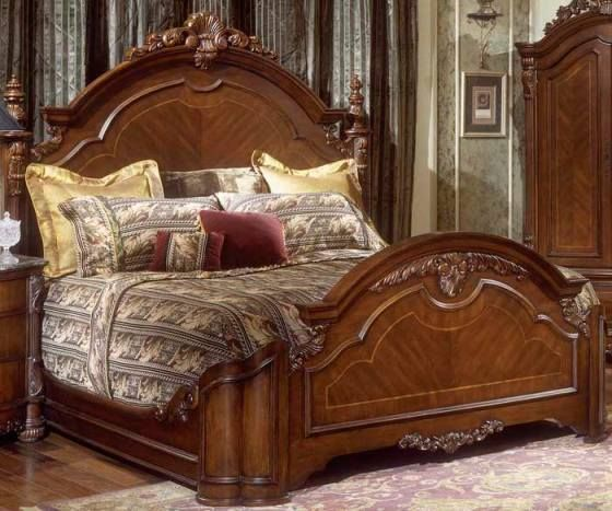 Custom wood carved beds product number bd king size