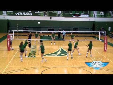 Russ Rose Warm Up Drill Coaching Volleyball Volleyball Drills Volleyball Tryouts