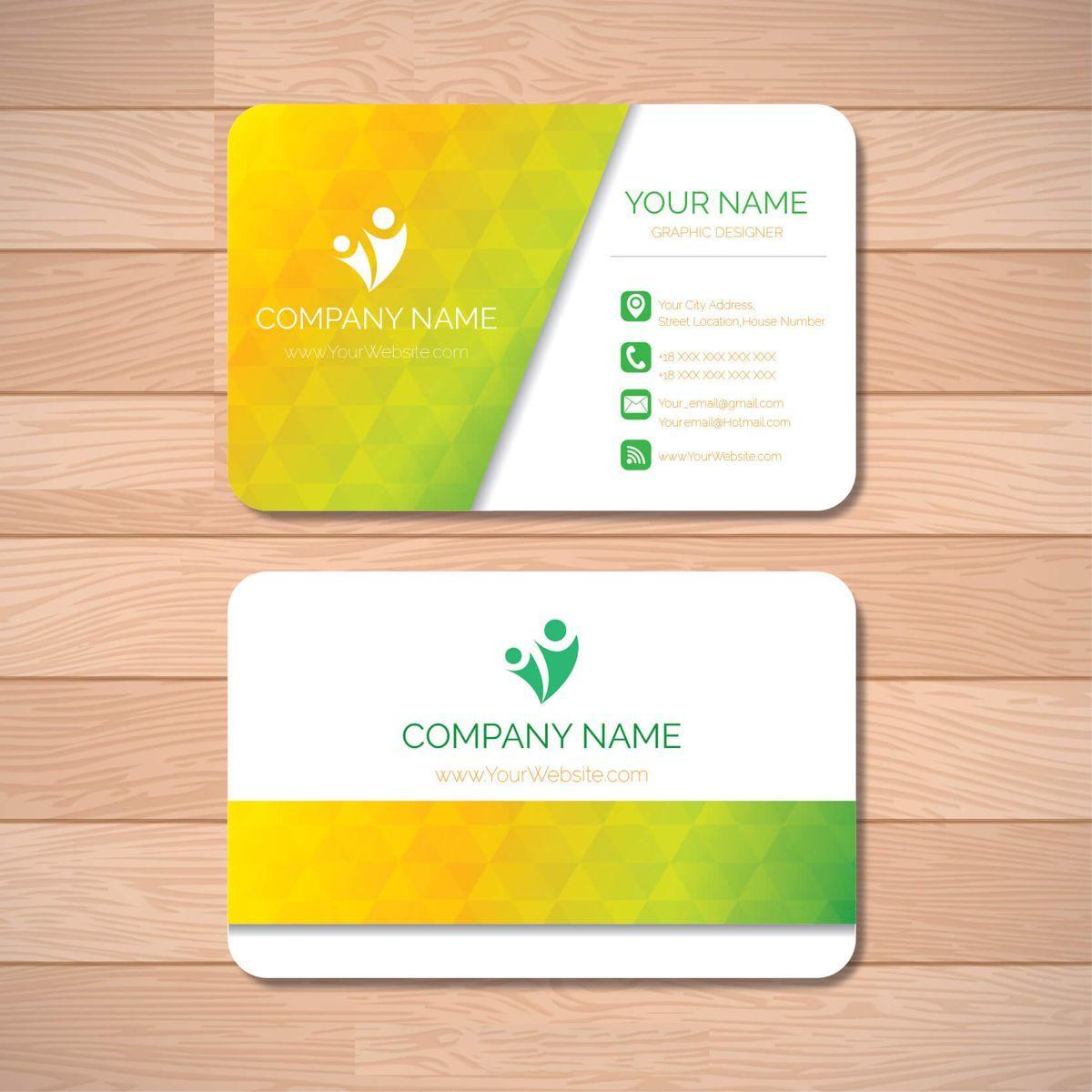 Sample Business Card Design Logo Auch Probe Visitenkarte Für