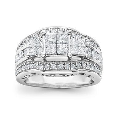 jcpenneycom 2 CT TW Princess Diamond 3Stone Engagement Ring