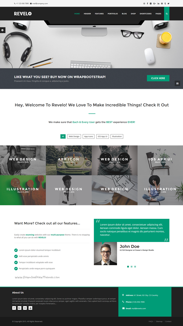 Revelo is an exceptional Responsive, Bootstrap #HTML #Theme with 24+ ...