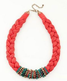 Arts And Fashion Mix DIY Braided Necklace Collares Pinterest - Diy braided necklace