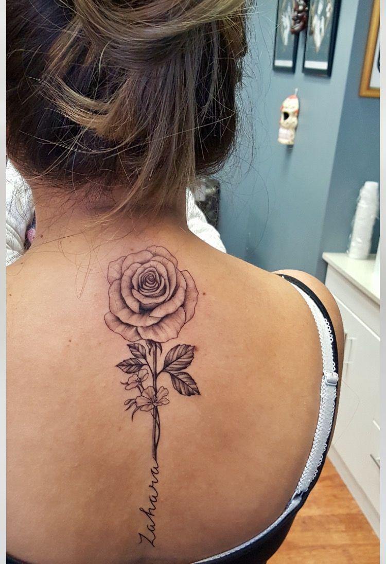 flowertattoo Spine tattoos for women