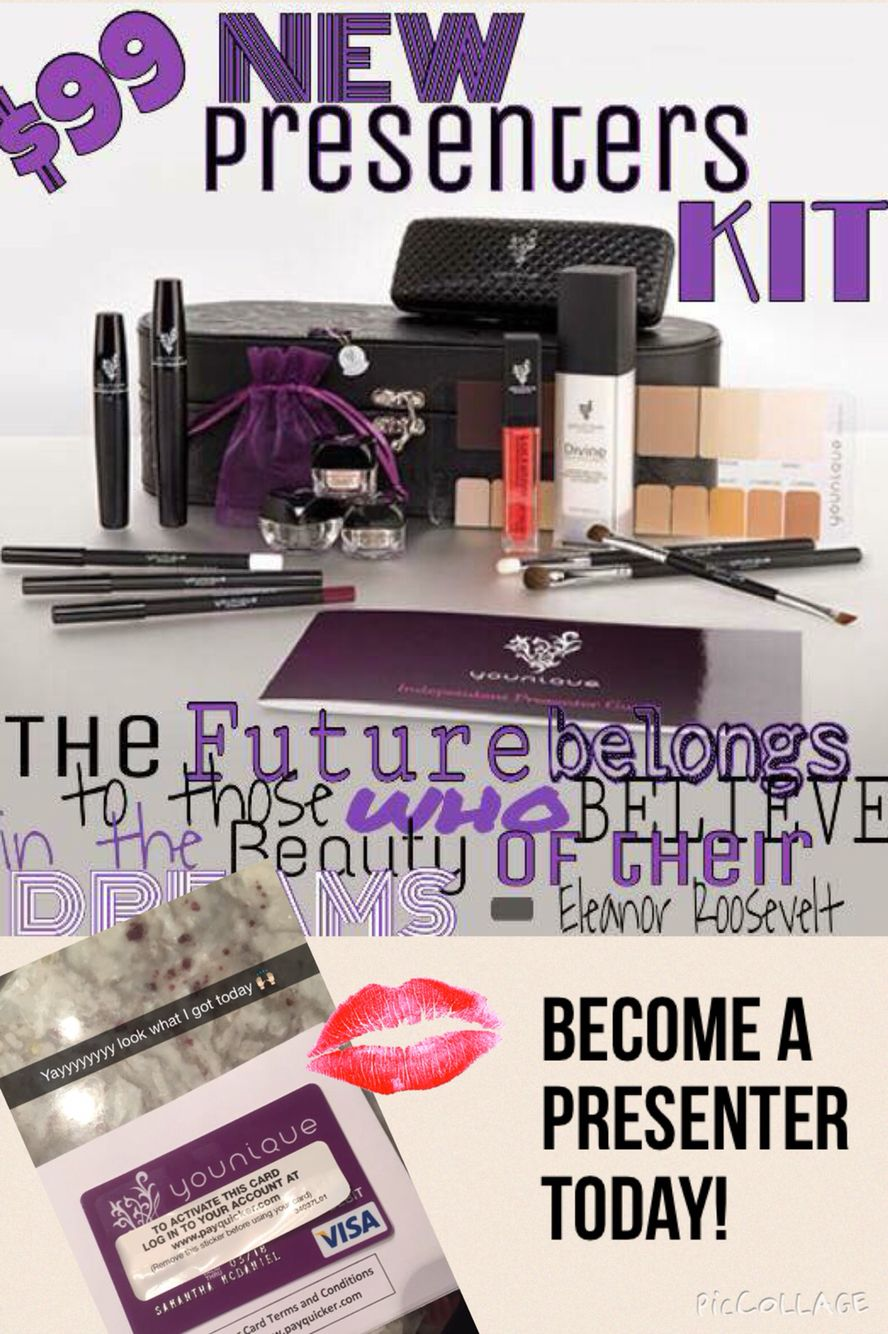 Join us today! Presenters kit, News presenter, Younique