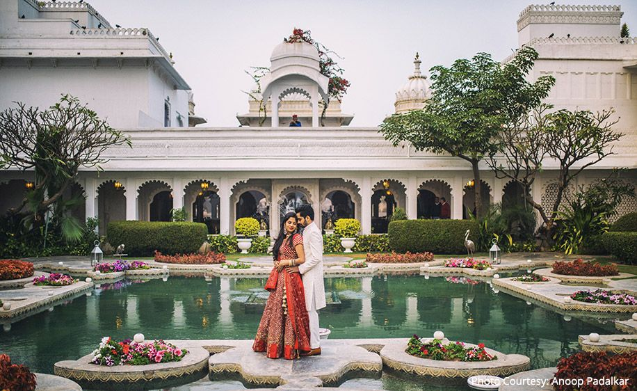 Meha and Nikunj's PreWedding Shoot at Udaipur's Taj Lake