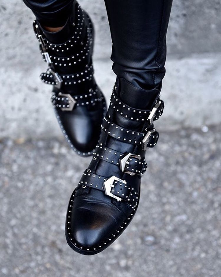1c64c55295c Mornings like this call for classic flat ankle boots. Givenchy's ...