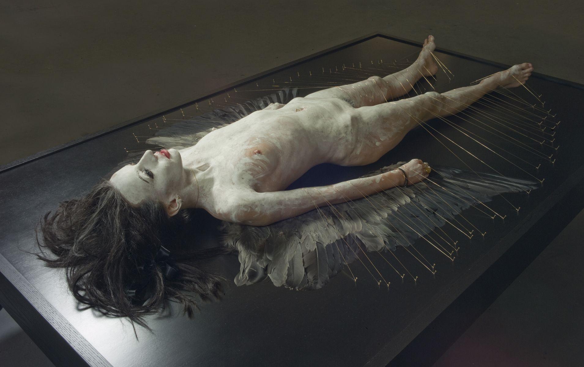 Paul Fryer: Lilith Lilith (detail), 2010 (Wax, glass, human hair