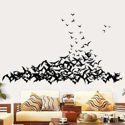 637 Black Bats Shape Wall Sticker Price 4 88 Main Features Fashionable