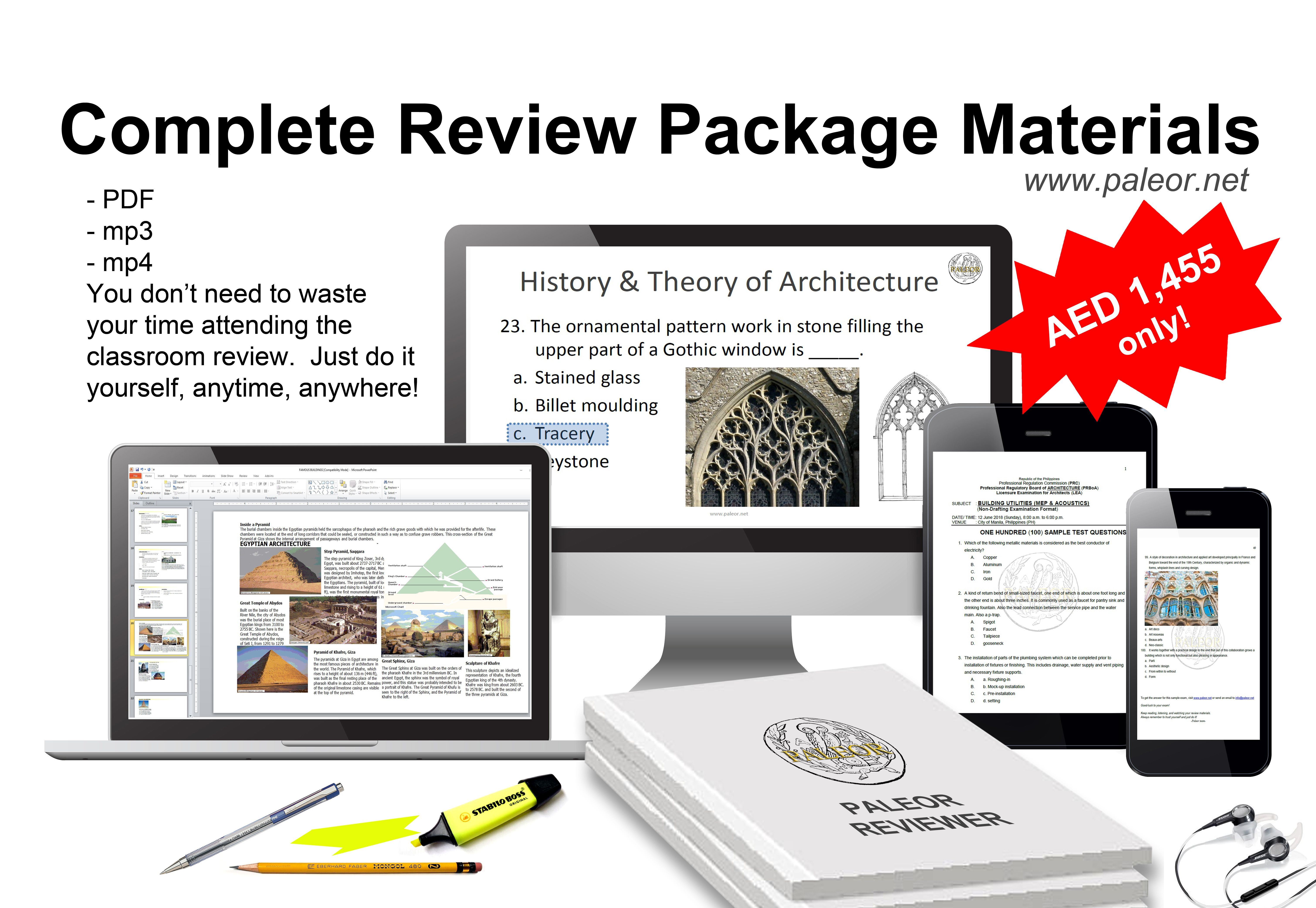 Complete review package materials for Philippines
