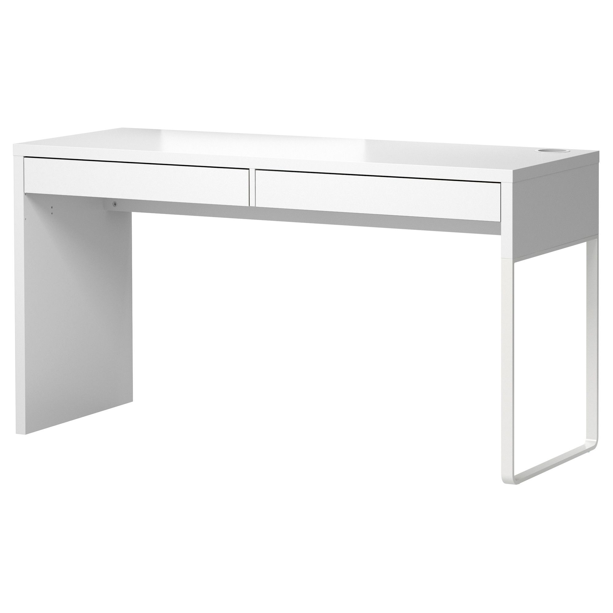 My New Makeup Desk MICKE Desk IKEA A Long Table Top Makes It Easy To Create  A Workspace For Two. Pictures