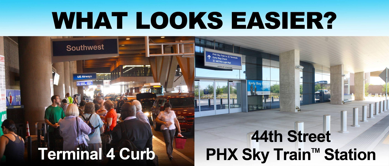 The 44th Street & Washington PHX Sky Train Station is a