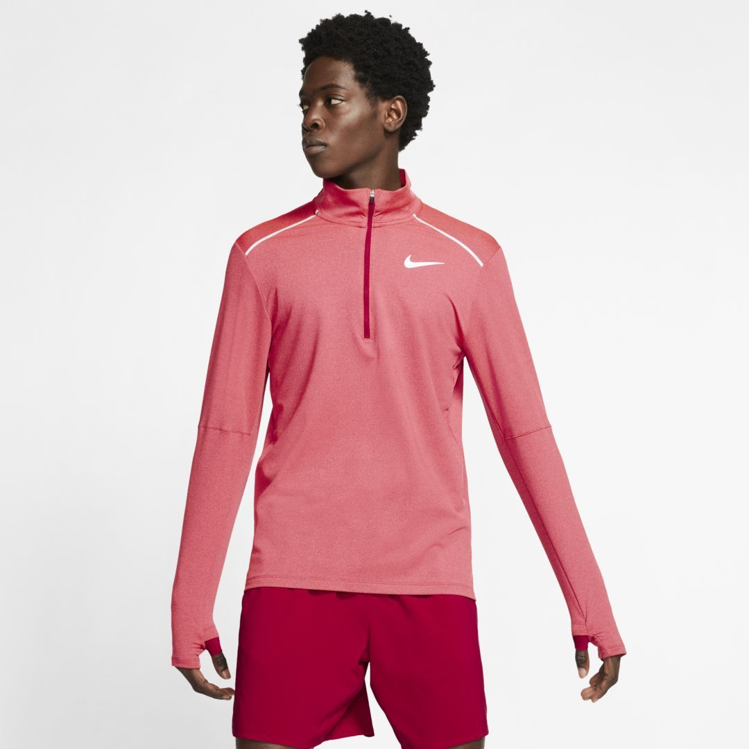 Photo of Nike Element 3.0 Herren 1/2-Zip-Laufoberteil (Noble Red)