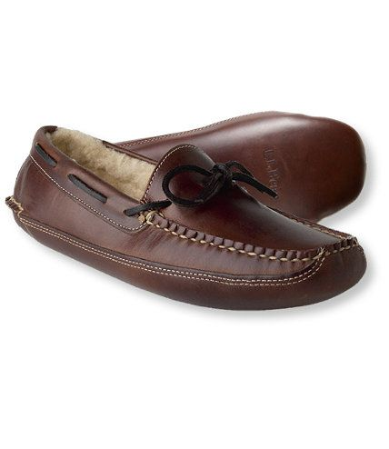 df0976bc882cc Men's Double-Sole Slippers, Leather Shearling-Lined: Slippers | Free  Shipping at L.L.Bean. $89.00