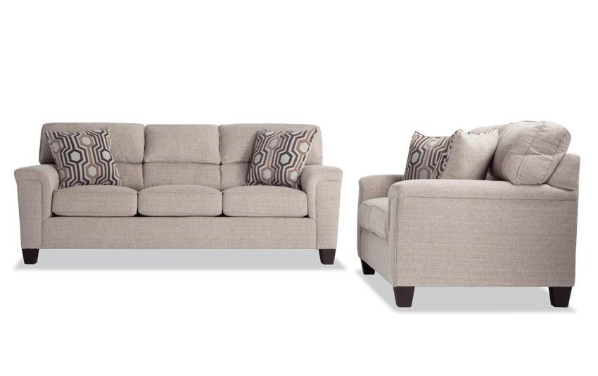 Calvin Almond Beige Sofa Loveseat Living Room Sets Calvin Sofa Loveseat Sofa
