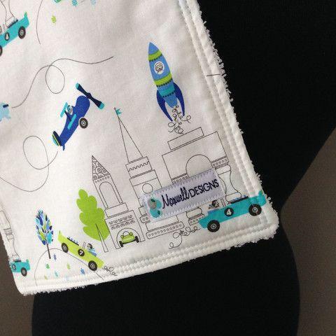 Burp Cloths pack of 2 | Maxwell Designs