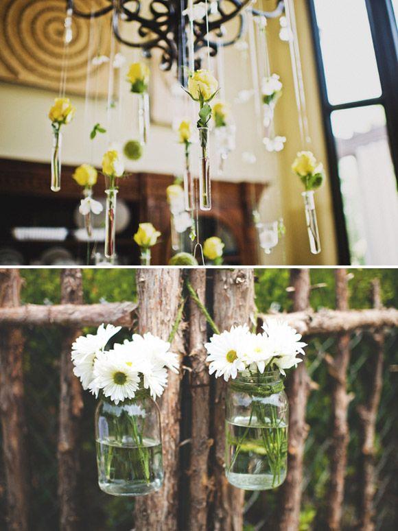 tubos de ensayos como decoracin de rbol bodas