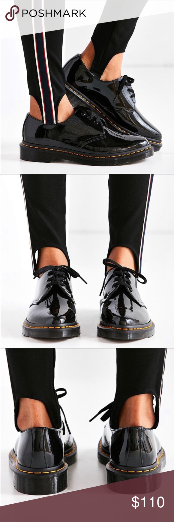 Dr. Martens Dupree Patent Leather 3 Eye Shoe