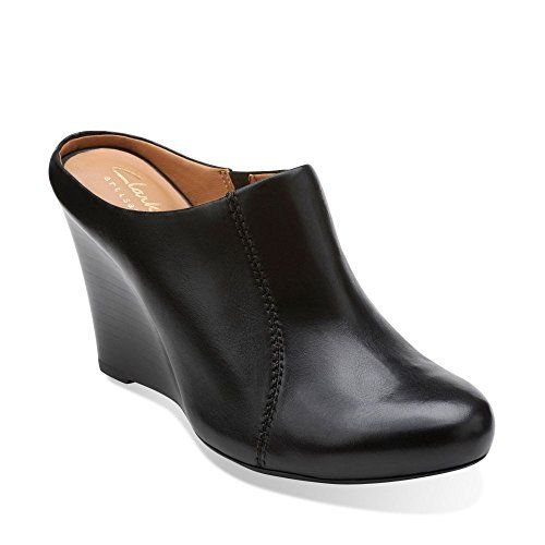 Womens Shoes Clarks Santee Charm Black Leather