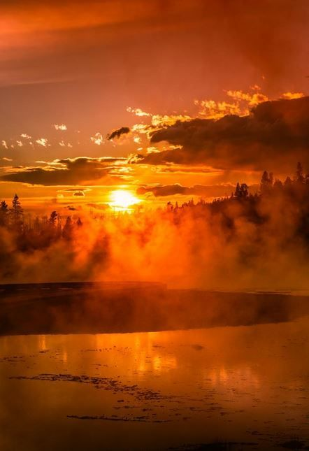 Sunset at Yellowstone - Firehole by Alexis Coram on 500px