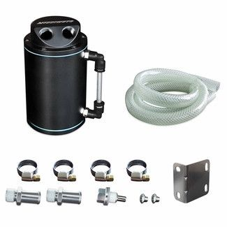 Mishimoto Oil Catch Can Kit Black Oil Canning Kit Performance Auto Parts